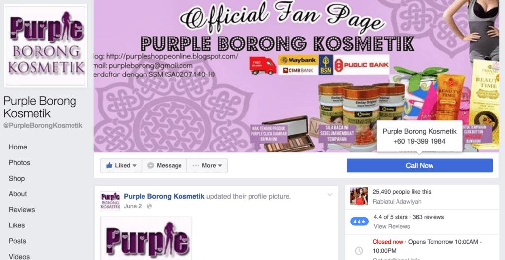 purple borong credible