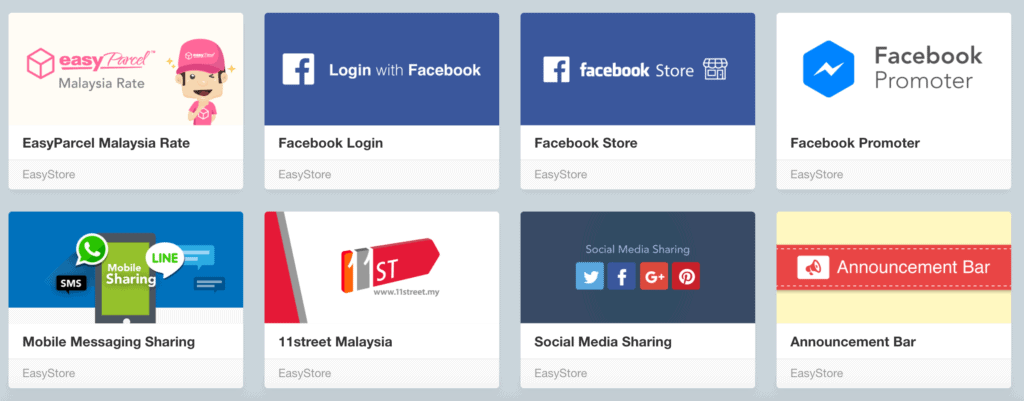 Easystore app page