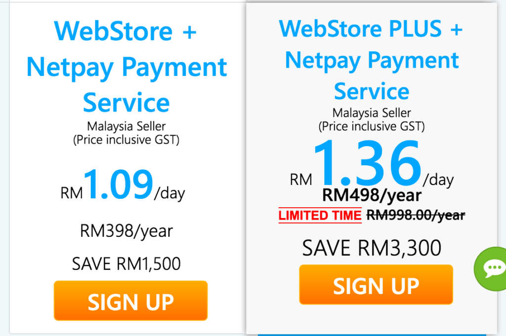 Lelong Webstore Pricing